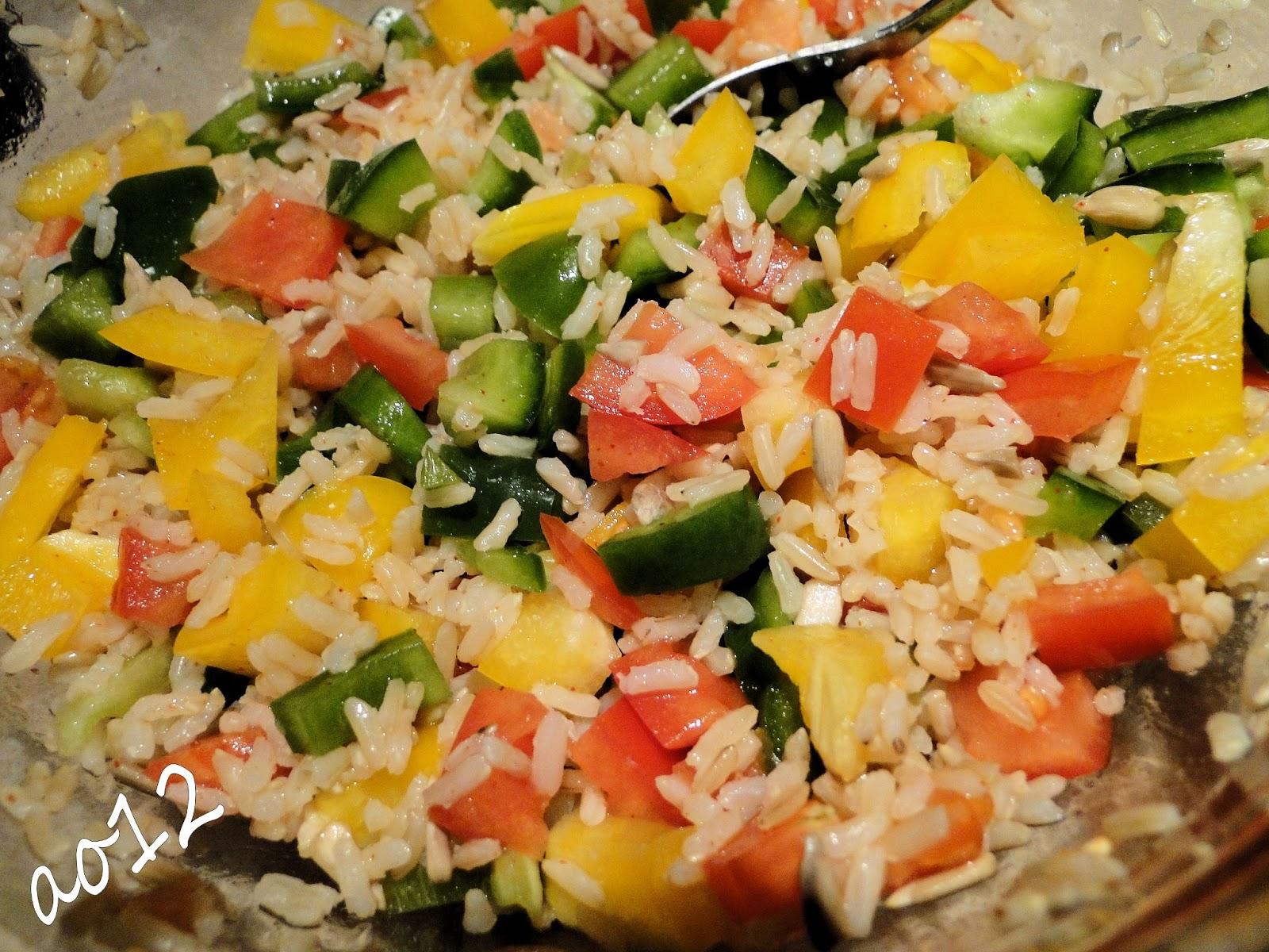 Kulinarny Zakatek Ao12 Dietetyczna Kolacja Salatka Z Brazowym Ryzem