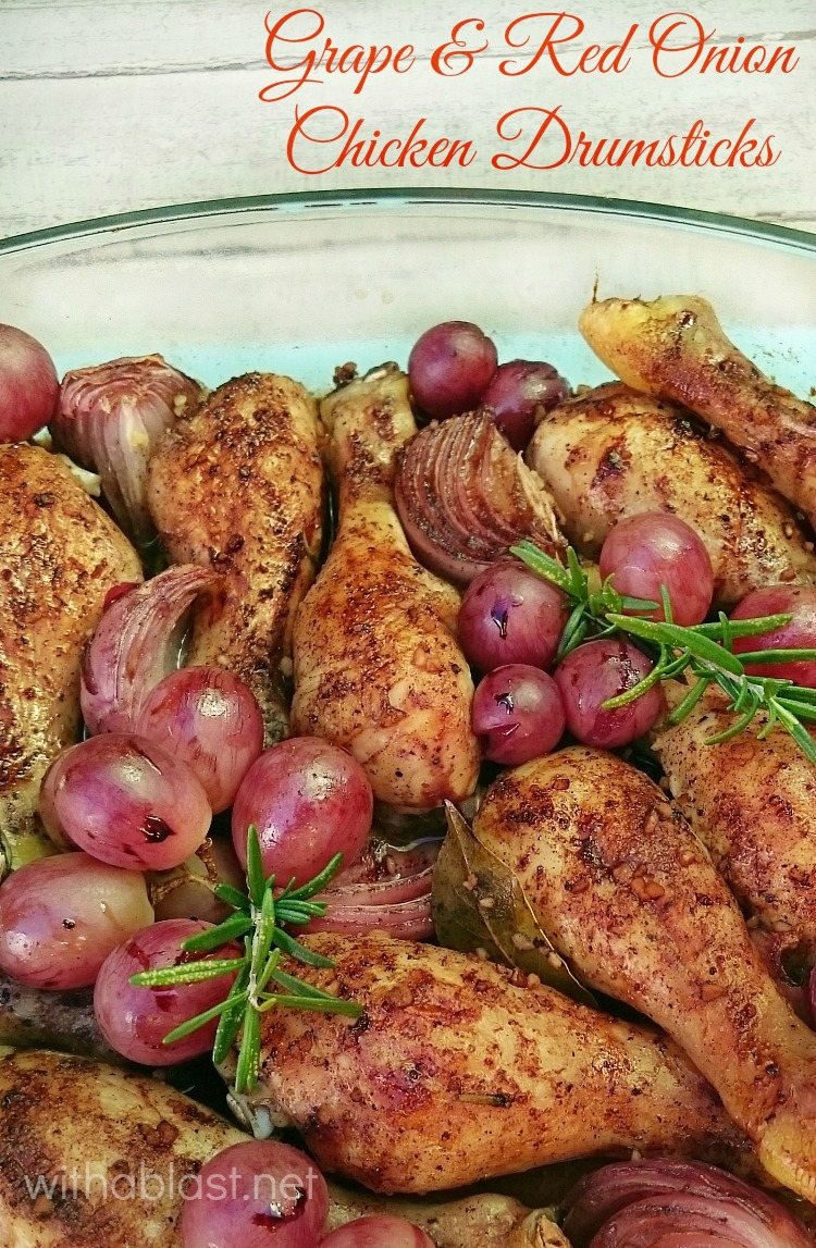 Grape and Red Onion Chicken Drumsticks ~ Delicious, quick & easy Grape and Red Onion Chicken {tender & juice!} ~ perfect for a busy night dinner