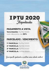 ATENÇÃO PARA NOVAS DATAS DE PAGAMENTO DO IPTU