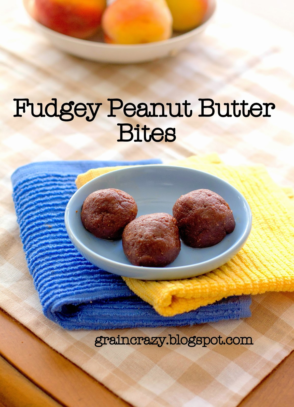 Grain Crazy: Fudgey Peanut Butter Bites