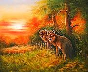Animales Salvajes al Óleo