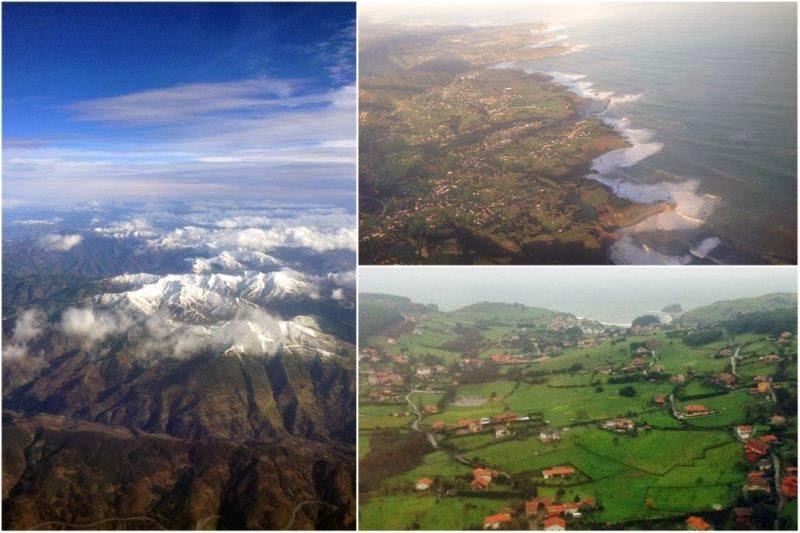 Vistas aéreas de Asturias
