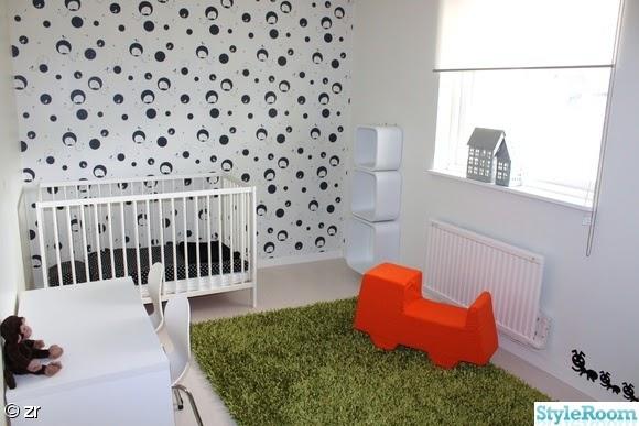 Papel pintado para un dormitorio infantil n rdico blanco - Papel pintado dormitorio principal ...