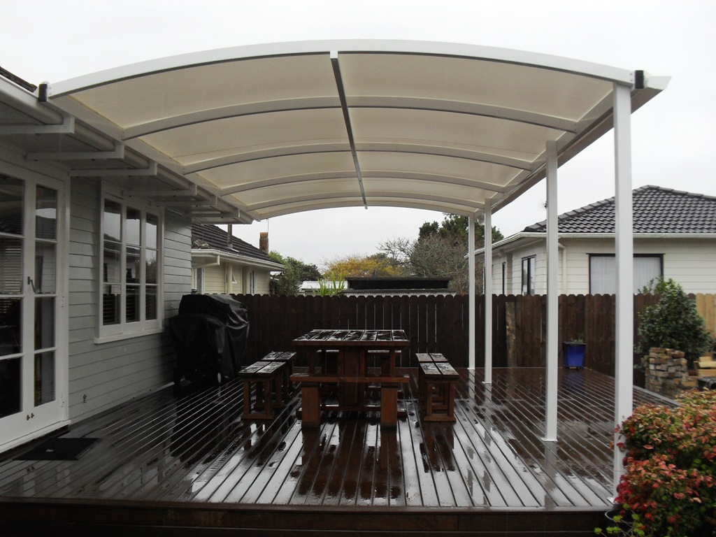 Patios gardening shades awnings fixed frame canopy - Shade canopy for deck ...