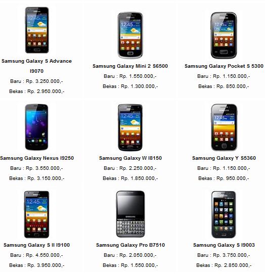 gambar hp samsung android dan harga