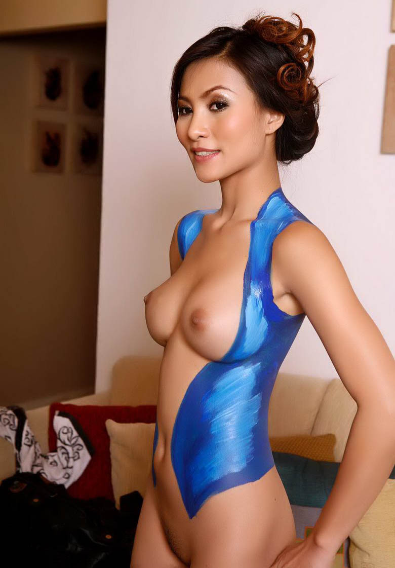 nude body painting videos