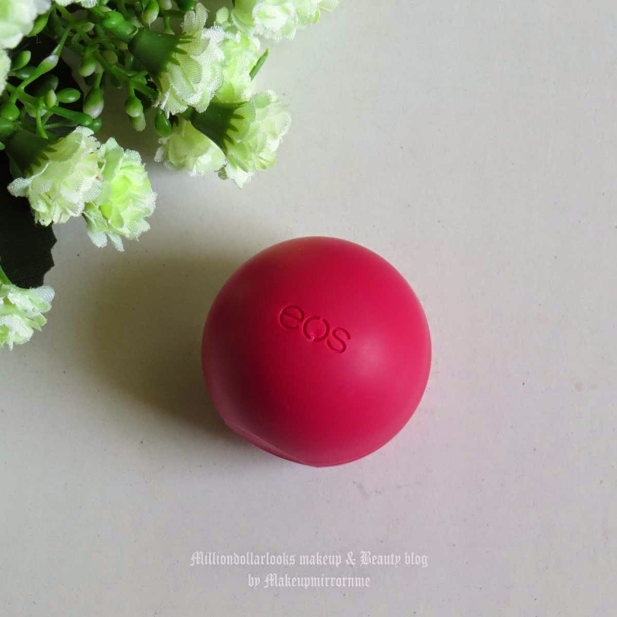 EOS Lip Balm Pomegranate Raspberry Review, Pictures & Price in India, EOS lip balm review India, Eos lip balm, Best lip balms available in India, Dry, chapped lips, Eos review, Lip balm review, Indian beauty blogger, indian beauty blog, indian makeup and beauty blog, Pink, Lips, Lip care, best lip products for dry lips, how to treat dry lips, where to buy EOS lip balms in India, eos lip balm price in India