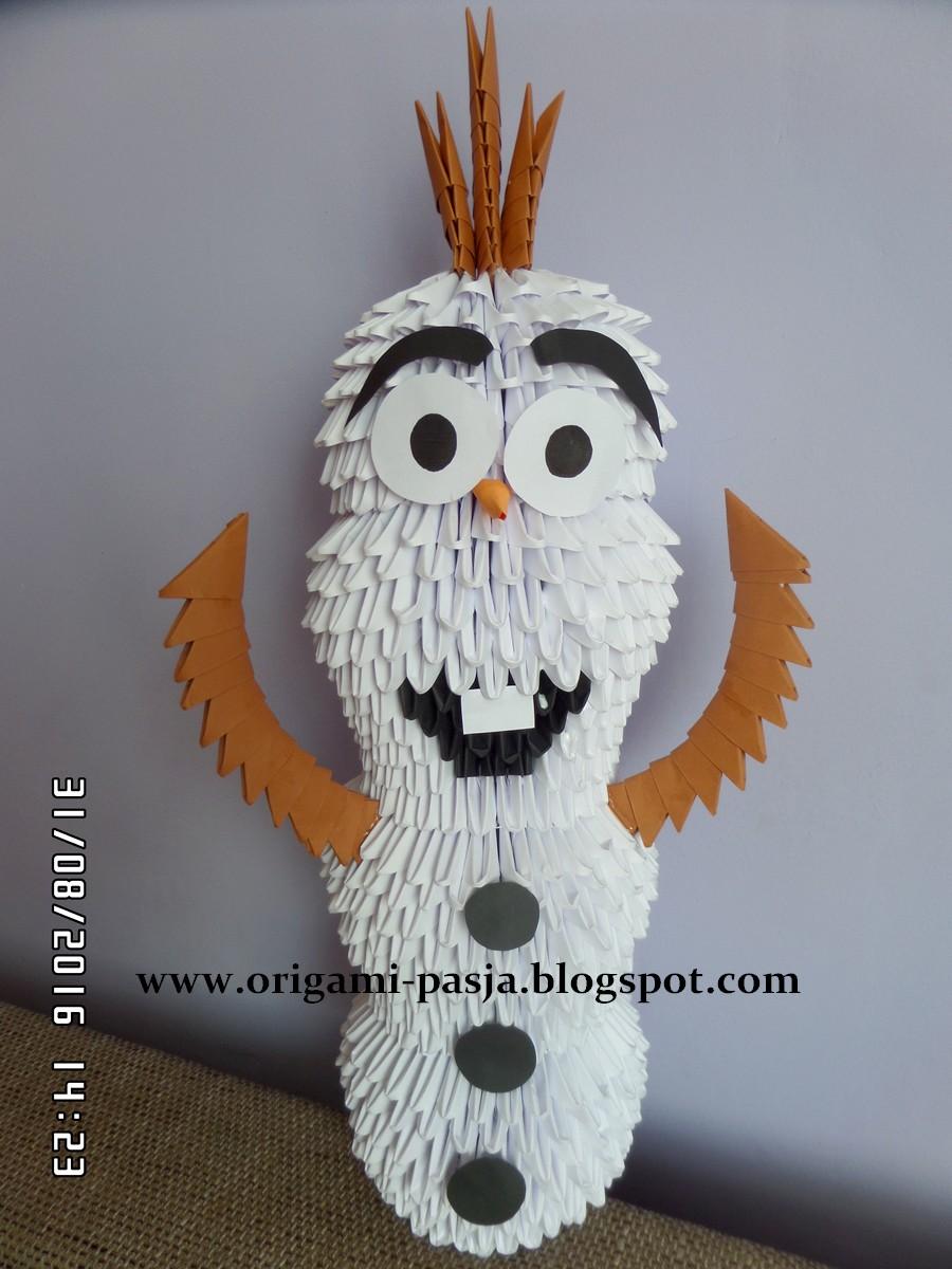 Olaf z Krainy Lodu - origami modułowe