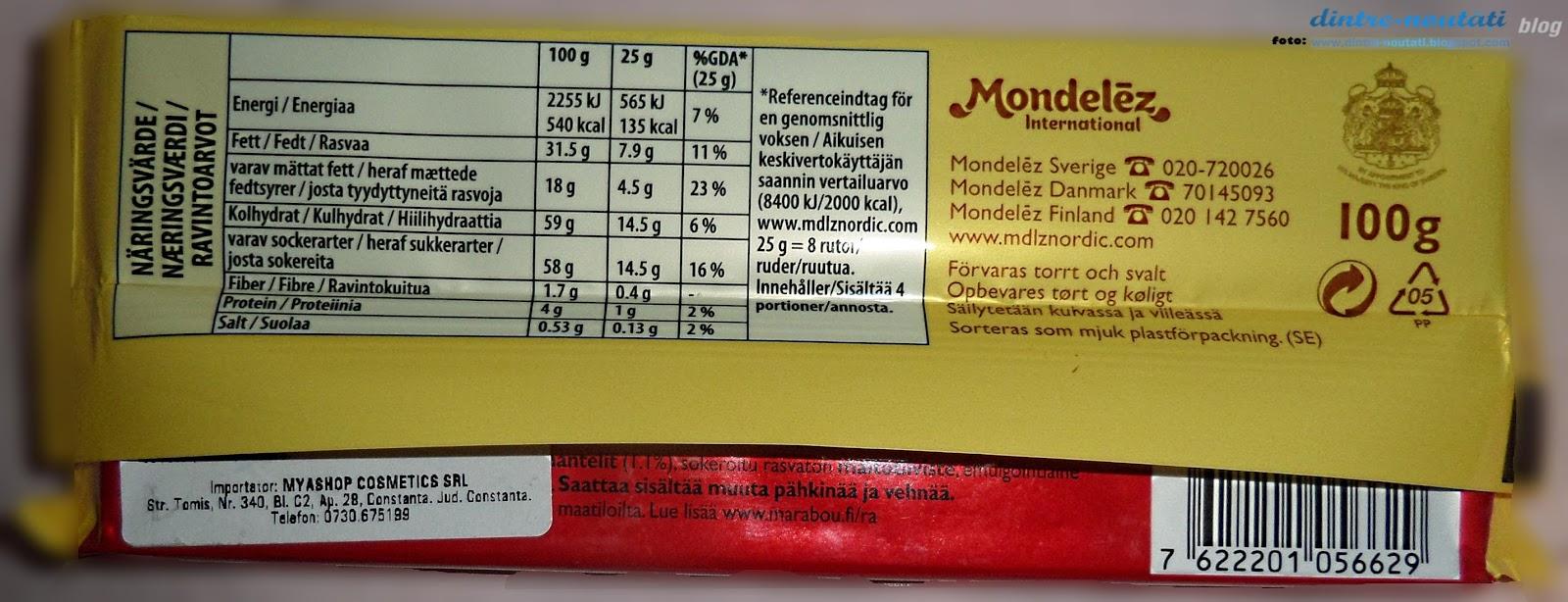 Ciocolată suedeza cu lapte și bucățele caramelizate din unt de migdale