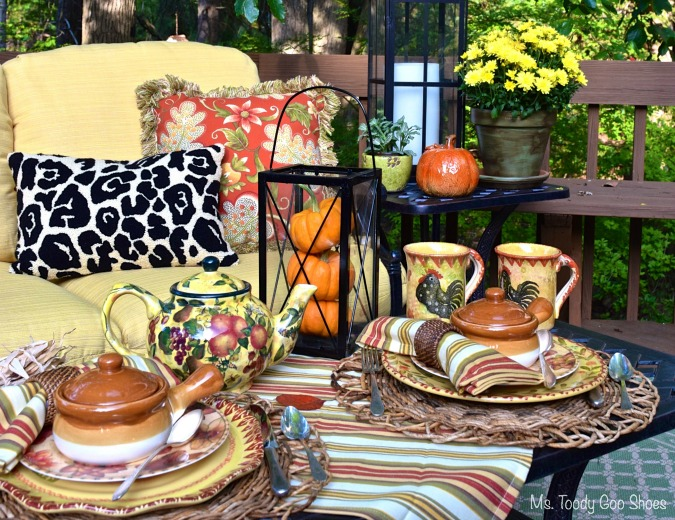 Fall Tablescape --- Ms. Toody Goo Shoes