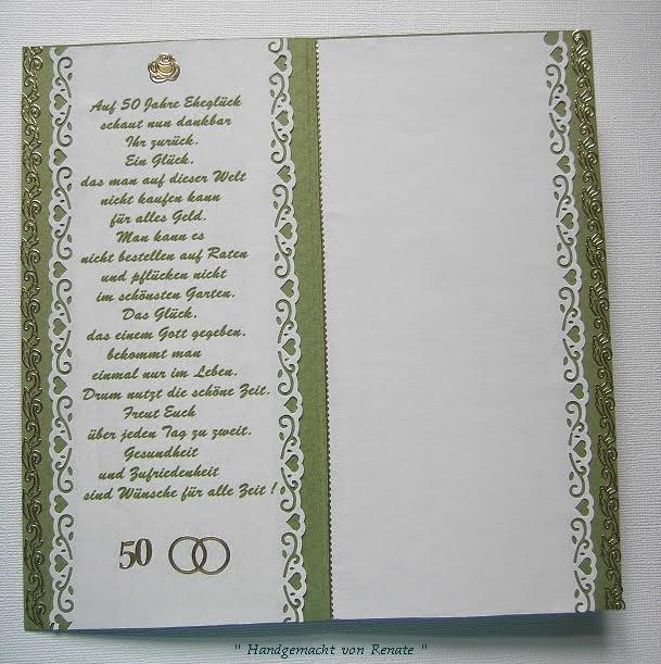 Handgemacht Von Renate 50 Jahre Verheiratet Alles Gute Zur