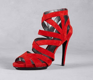 DKNY | Marcey Red Suede Strappy Pumps | Designer | Fashion | Clothing | Shoes | Handbags | Jewelry | New Year | Sale