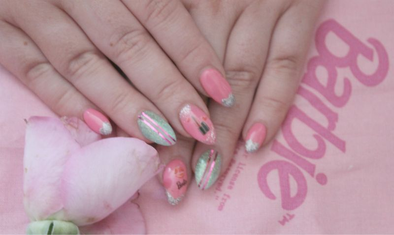 My Trashy Barbie Nails | The Sunday Girl