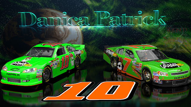 Danica Patrick NNS And Cup Go Daddy Cars wallpaper