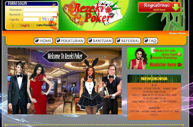 Daftar Poker Online Uang Asli RezekiPoker.com