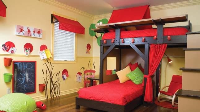 Dormitorio para ni as en color coral dormitorios colores - Combinacion colores habitacion ...