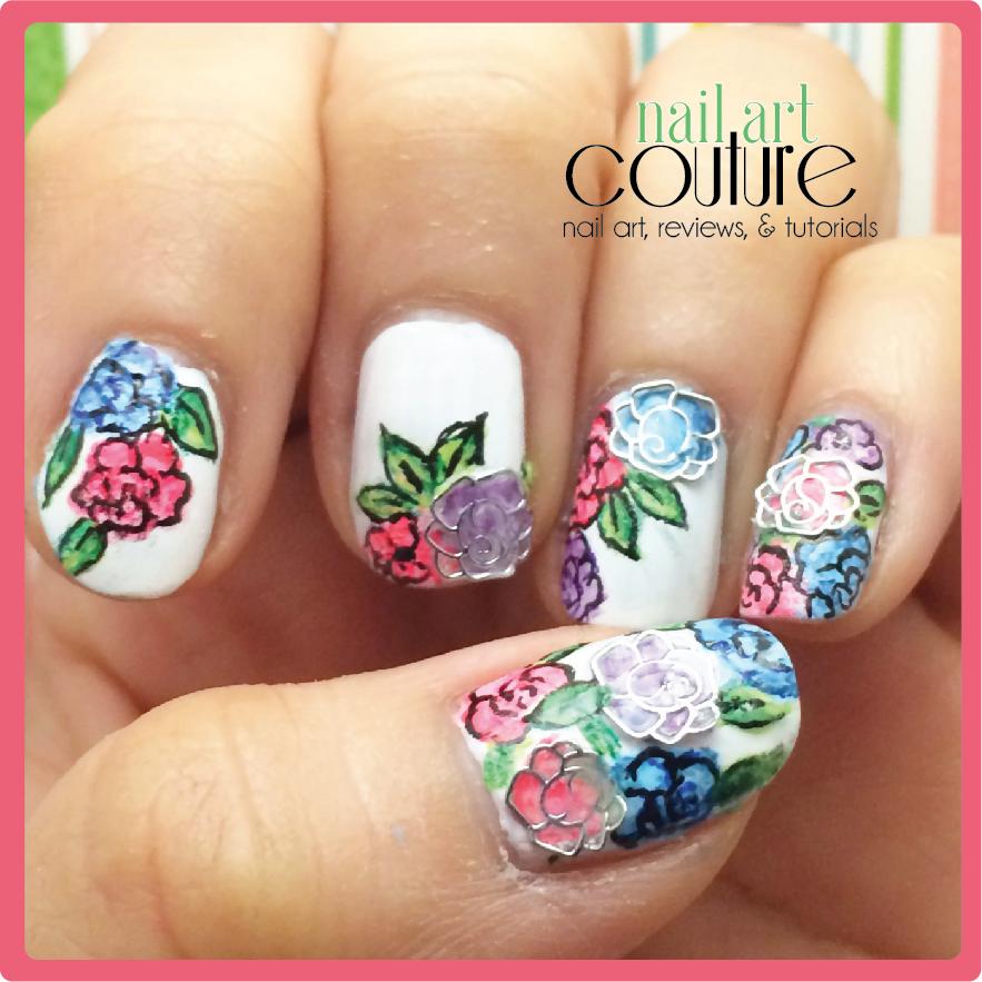 Nail Cake Born Pretty Store Review: Nail Art Couture★ !: Floral Spring Nail Art + Born Pretty