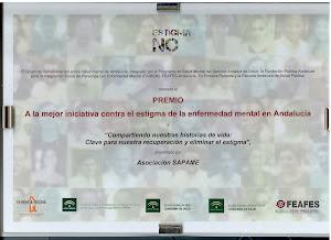 Premio 2011, mejor iniciativa contra el estigma de la enfermedad mental