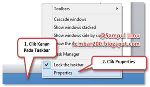 Cara Merubah Letak Taskbar DiDekstop
