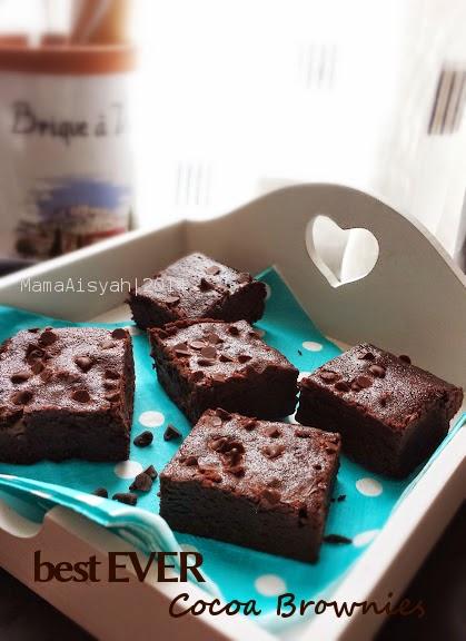 Dapur Mama Aisyah: Best Cocoa Brownies (tanpa DCC)