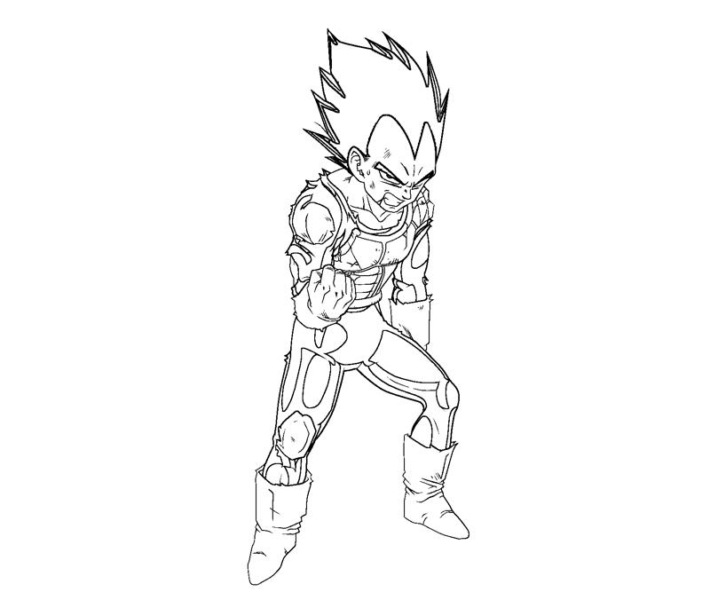 Vegeta 13 Coloring Crafty Teenager