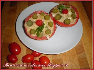 pomodori ripieni di patate e tonno