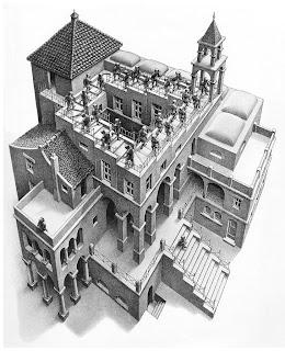 Ascending and Descending, M. C. Escher, Ascendente e Descendente