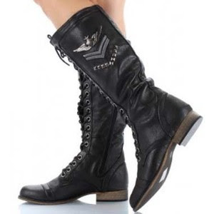 Popular New Women39s Knee High Lace Up Buckle Combat Military Boots Timberly65