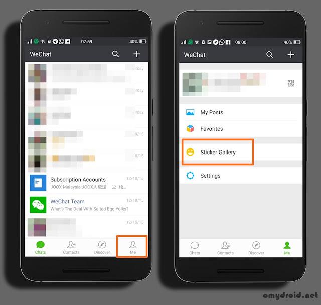 Cara Muat Turun Stickers WeChat