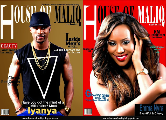 Superstars, Iyanya And Emma Nyra Share The Cover Of House Of Maliq Magazine, October Issue