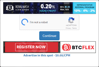 Solve the captcha to claim bitcoins