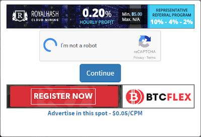 Solve the captcha to claim Bitcoin