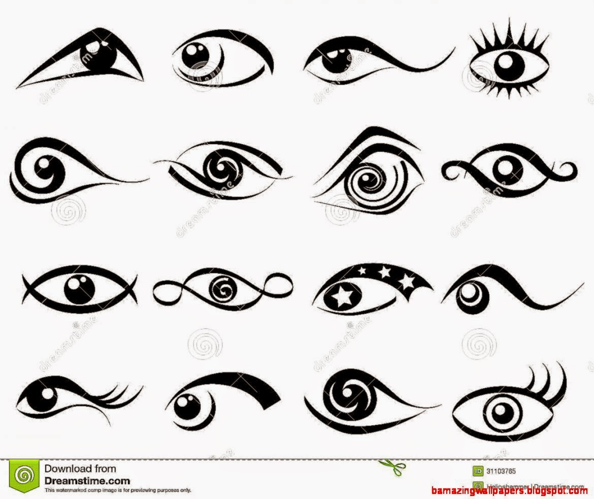 Abstract Eye Symbol Set Royalty Free Stock Photo   Image 31103765