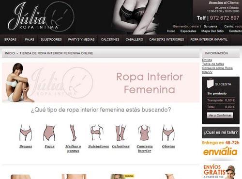 web ropa interior femenina julia