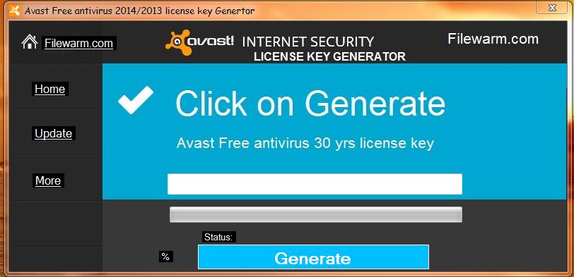 Free activation key for avast antivirus.