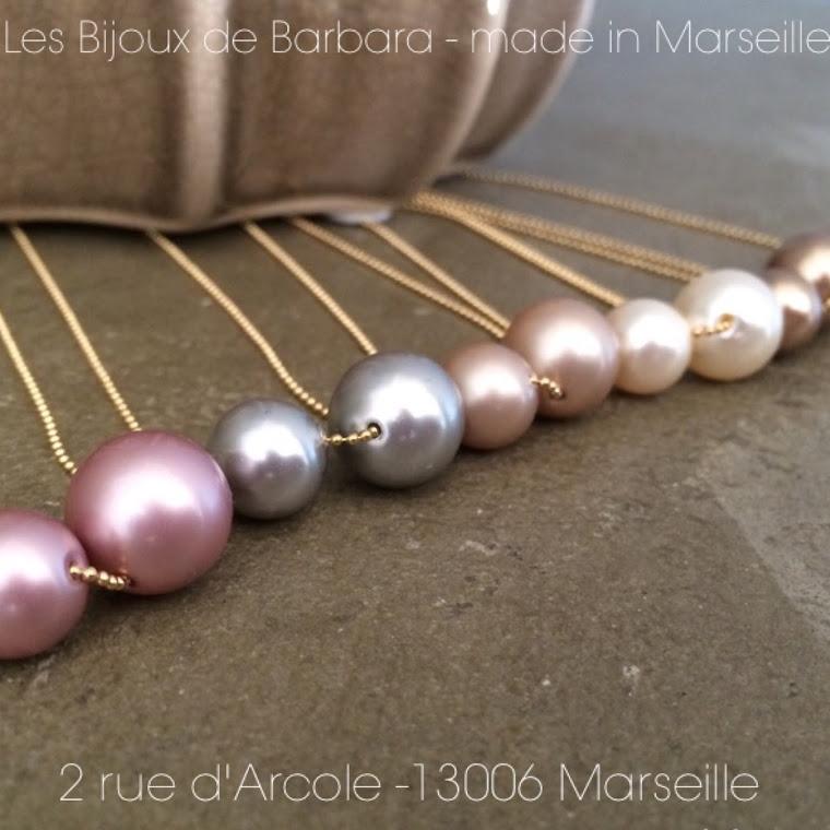 Colliers collection perles cristal nacrées
