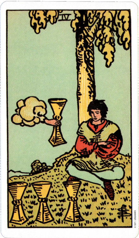 Original Rider Waite Tarot Four of Cups