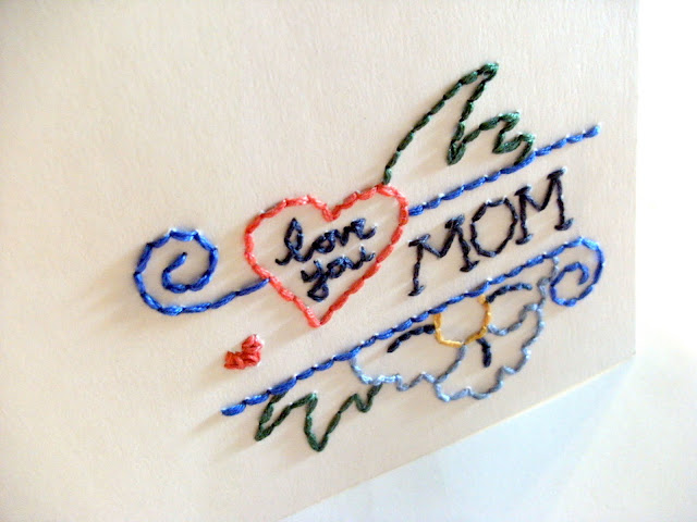 image tutorial diy mother's day card embroidery embroidered tattoo mandipidy