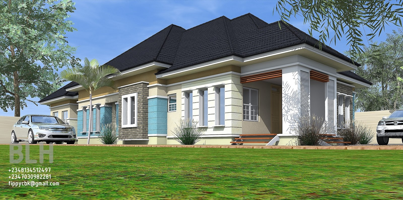 Architectural designs by blacklakehouse 4 bedroom bungalow for 4 bedroom bungalow house designs