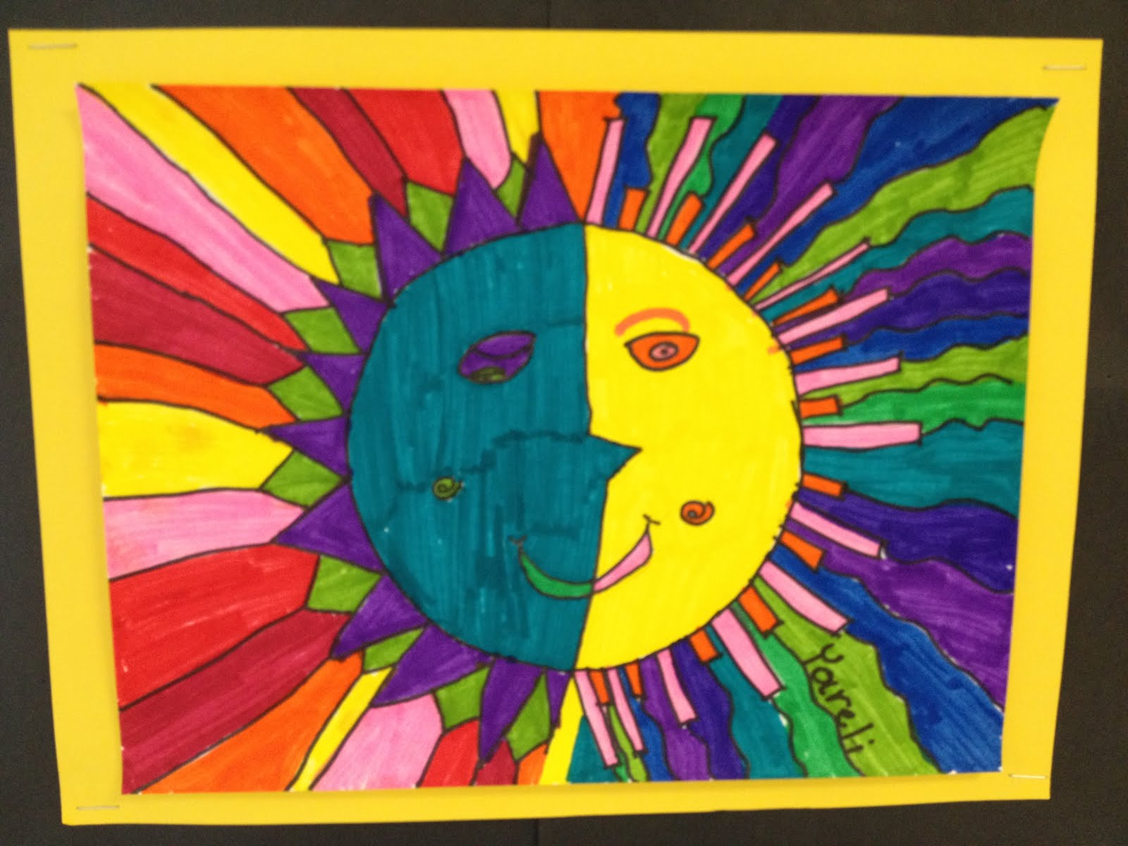 Aztec Calendar Art Lesson : Color for everyone aztecs suns art to remember
