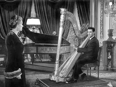Image result for bishops wife cary grant playing harp