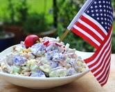 Red, White & Blue Potato Salad (A Veggie Venture)