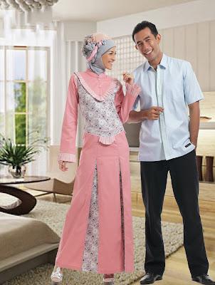 Gamis Batik Couple Kaftan Artis