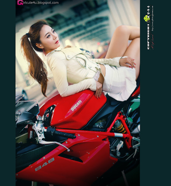 1 Jo Ye Jin and Ducati-very cute asian girl-girlcute4u.blogspot.com
