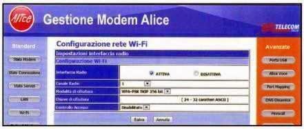 come impostare nuovo canale radio wi-fi