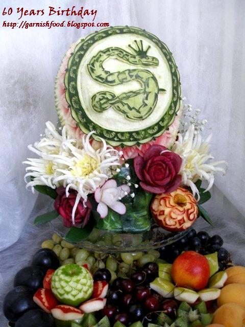 fruit plate and watermelon carving