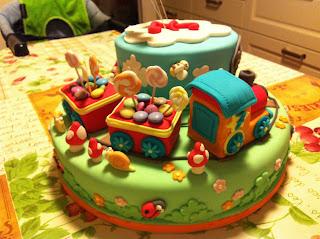 Lo zuccherino magico la torta con il trenino e i suoi for Decorazioni torte trenino thomas