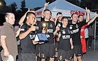 La squadra vincintrice del secondo Memorial 2013 la Polizia Locale.