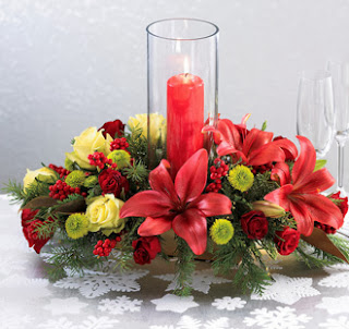 Christmas Centerpieces with Flowers, Part 3