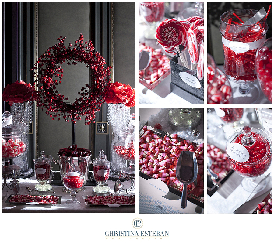 No l on pinterest noel deco and white christmas for Table noel rouge